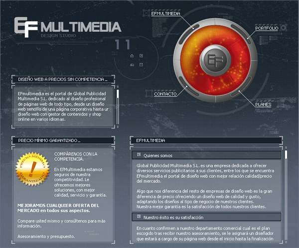Diseño Pagina Web EfMultimedia en flash